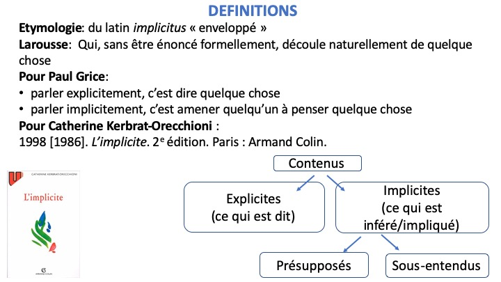 IMPLICITES DEFINITIONS